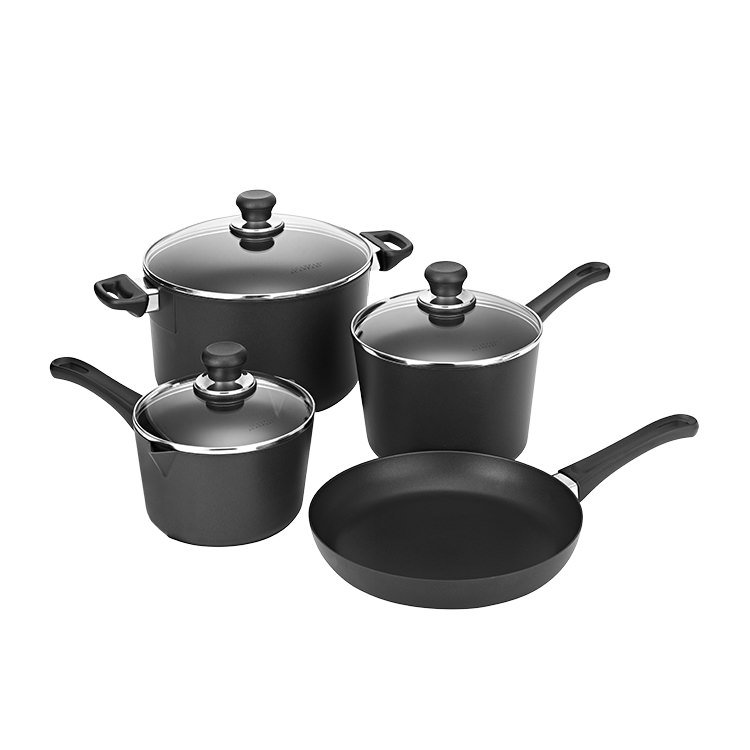 Scanpan Classic 4pc Set w/ 2 Saucepans, Frypan, Dutch Oven