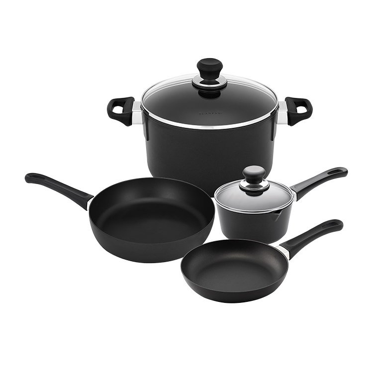 Scanpan Classic 4pc Set w/ Frypan Saute Pan Saucepan & Dutch Oven