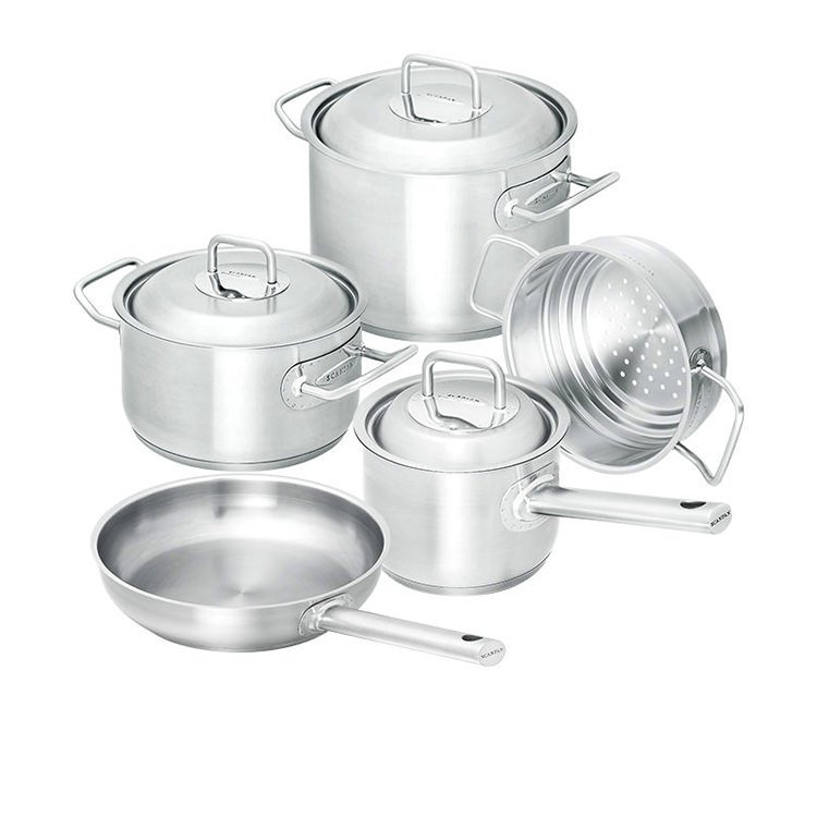 Scanpan Commercial 5pc Set w/ Frypan, Saucepan, Steamer & Casseroles