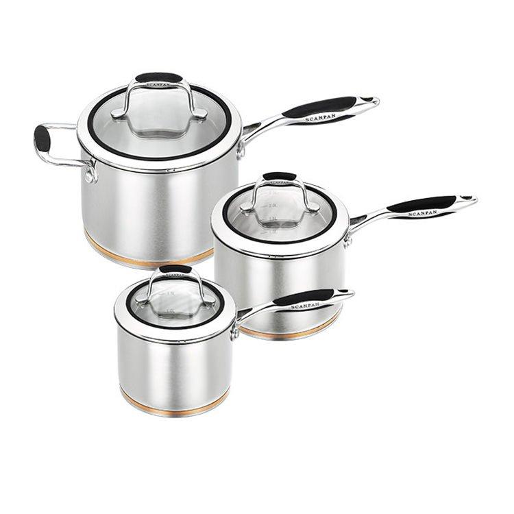 Scanpan Coppernox 3pc Saucepan Set