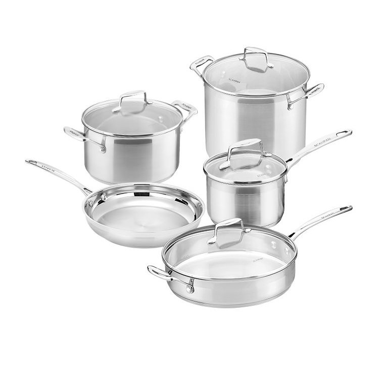 Scanpan Impact 5pc Set w/ Saucepan Dutch Oven Frypan Stockpot & Saute Pan