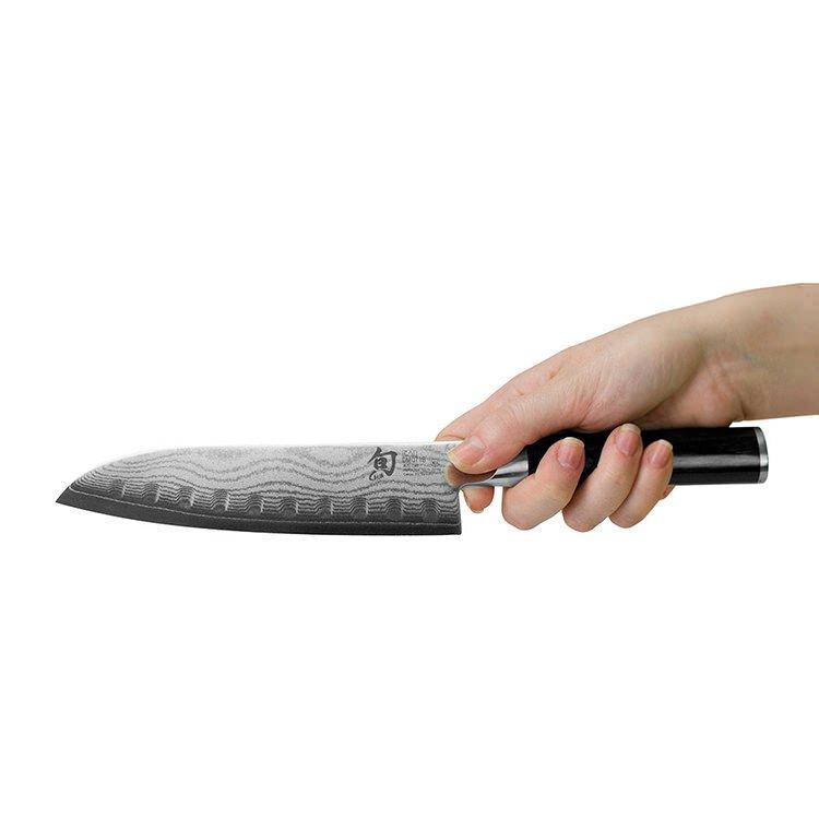 Shun Classic Santoku Knife Scalloped 17cm