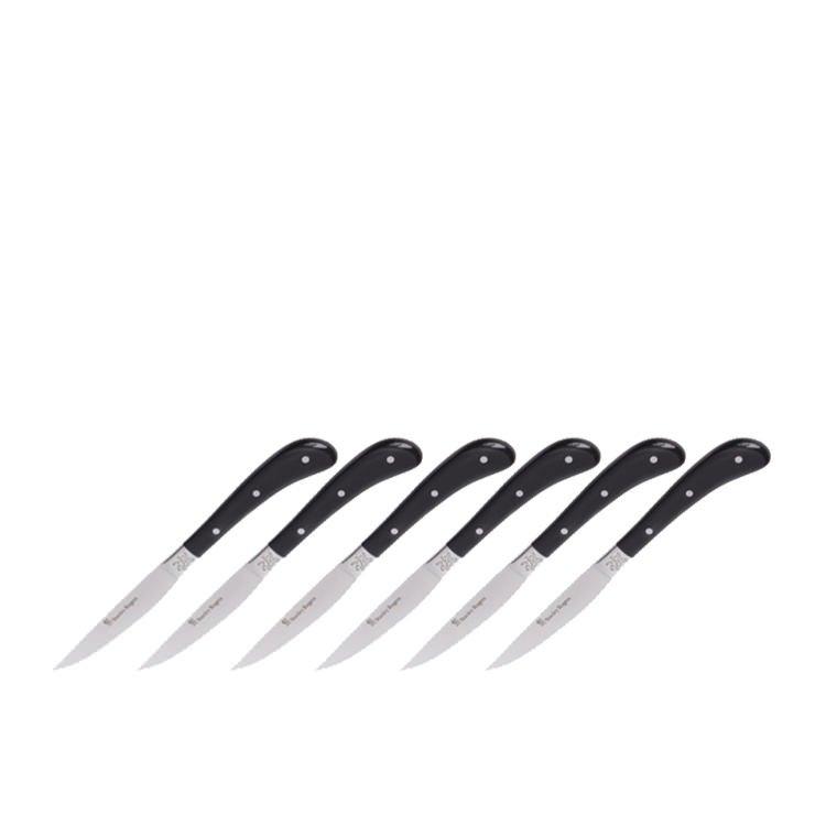 Stanley Rogers Pistol Grip Artisan Steak Knives 6pc Black