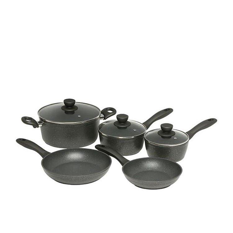 Stanley Rogers Quartz Stone Advanced 5pc Cookware Set