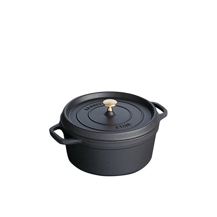 Staub Round Mini Cocotte 10cm Black