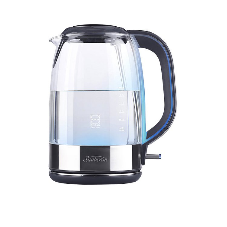 Sunbeam Cool Blue Glass Kettle