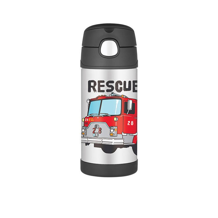 Thermos Funtainer S/S Vacuum Insulated Drink Bottle 355ml Firetruck