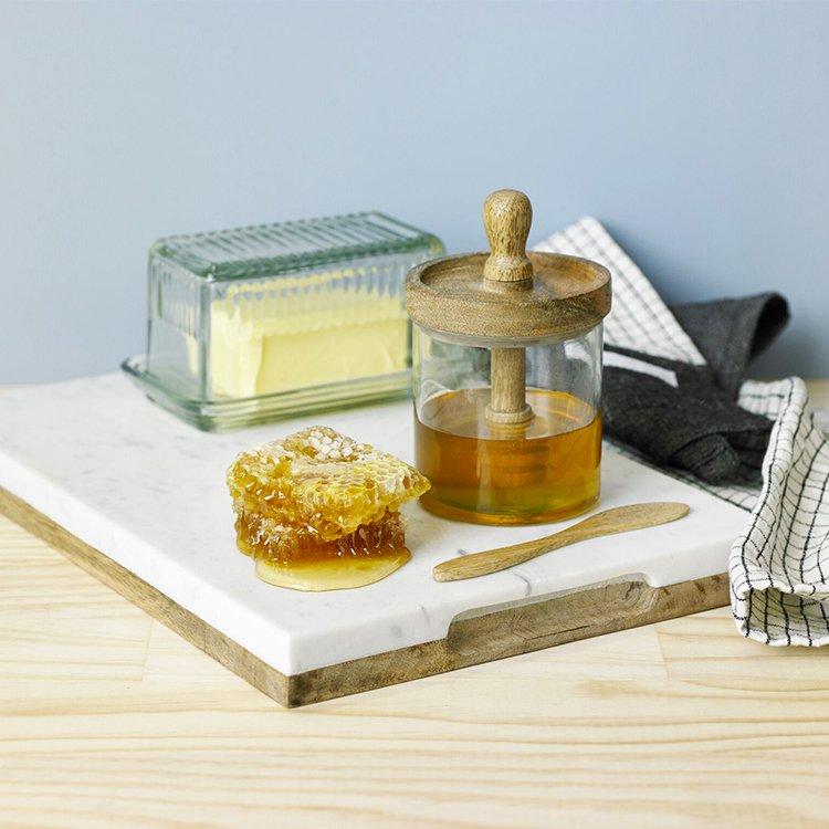 Academy Hemingway Glass Butter Dish