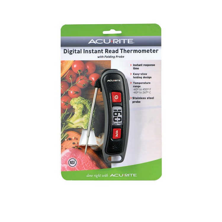 Acurite Digital Instant Read Thermometer w/ Folding Probe
