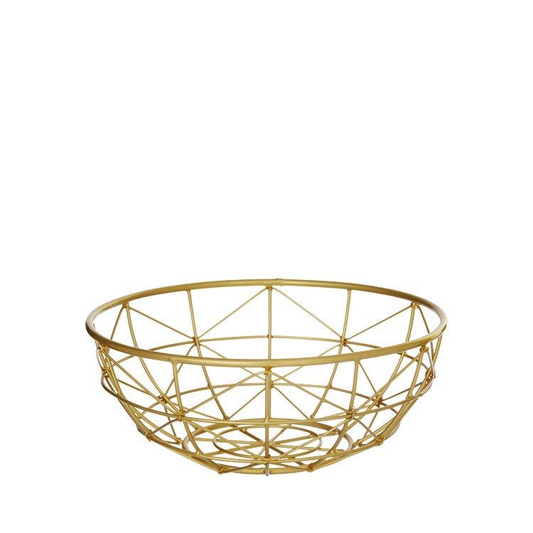 Amalfi Meknes Gold Round Basket 26cm