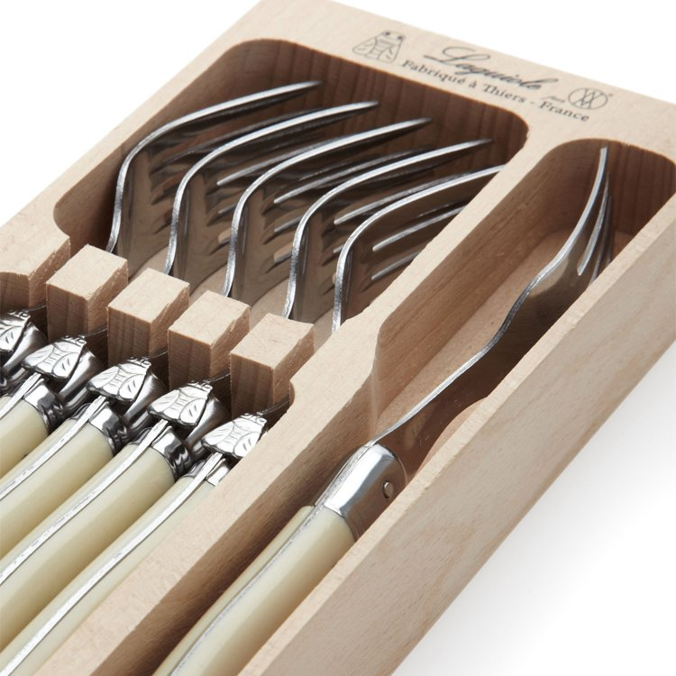 Laguiole by Andre Verdier Debutant Forks 6pc Ivory