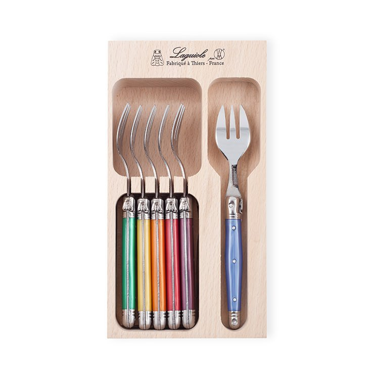 Laguiole by Andre Verdier Debutant Cake Fork 6pc Mixed