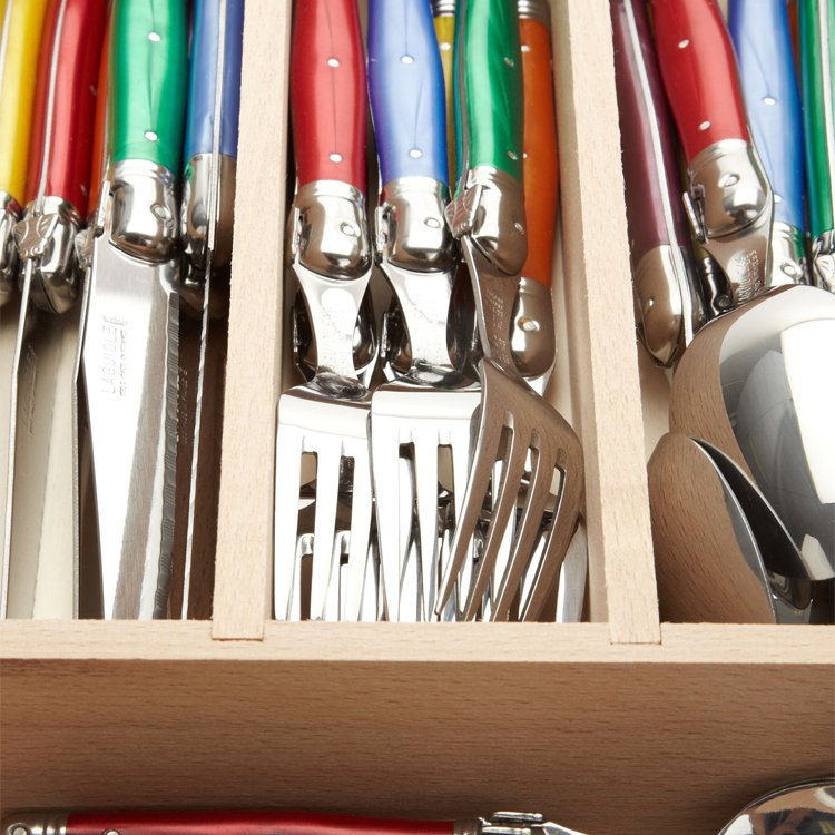 Laguiole by Andre Verdier Debutant Cutlery Set 24pc Mixed