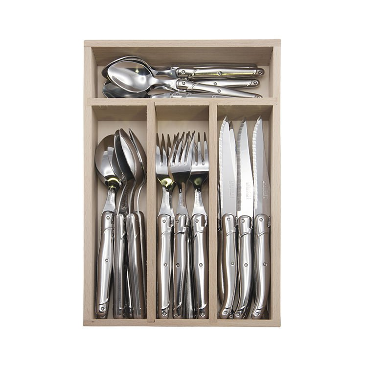 Laguiole by Andre Verdier Debutant Cutlery Set Mirror 24pc Stainless