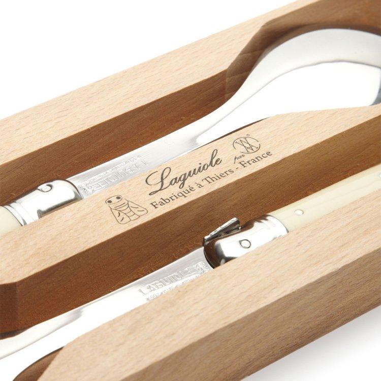 Laguiole by Andre Verdier Debutant Salad Spoon Set Ivory