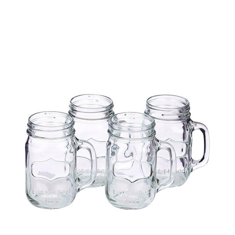 Anna Gare Retro Glass Jar Tumbler Set of 4