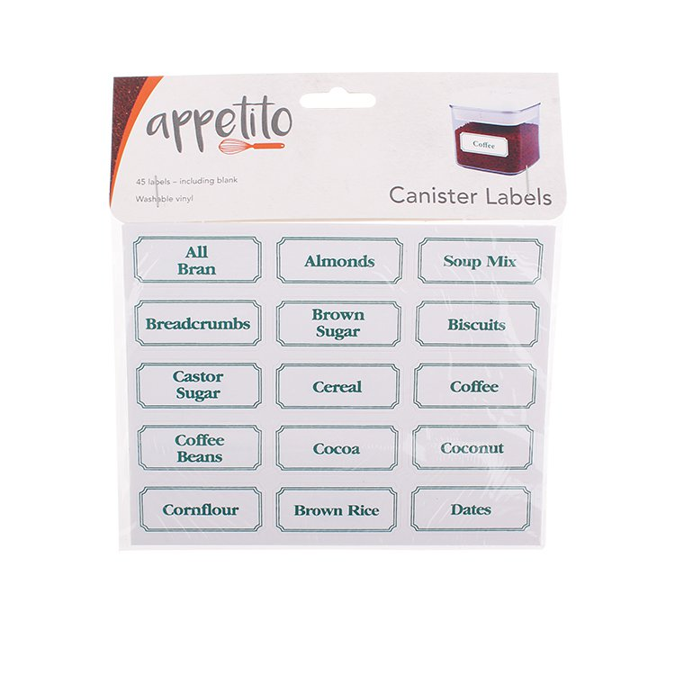 Appetito Canister Labels 45pk