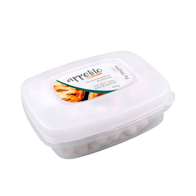 Appetito Ceramic Pie Weights in Reusable Tub