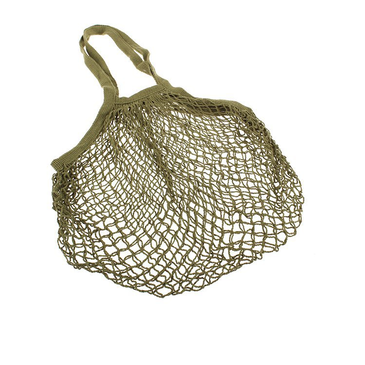 Sachi Cotton String Bag Long Handle Avocado