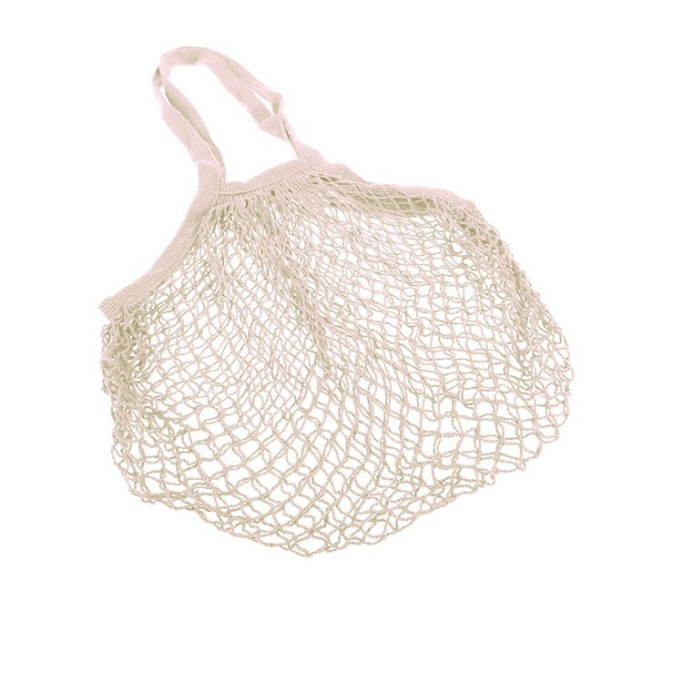 Sachi Cotton String Bag Long Handle Natural