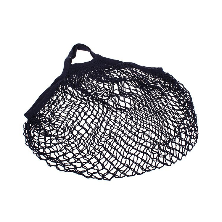 Sachi Cotton String Bag Short Handle Navy