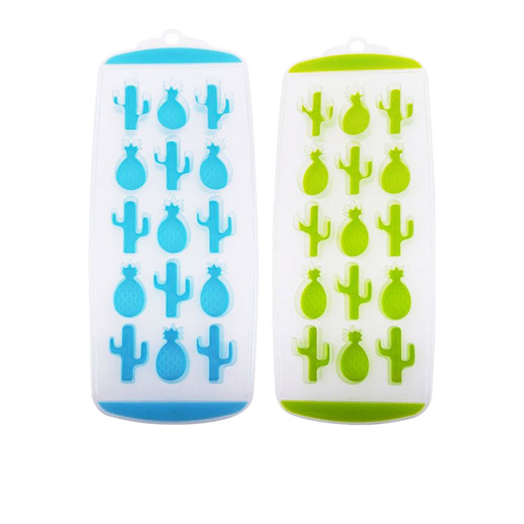 Appetito Easy Release 15 Cube Pineapple & Cactus Ice Tray Set of 2