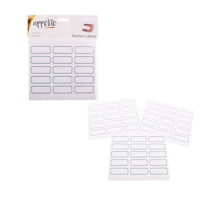 Appetito Labels Blank 45pk