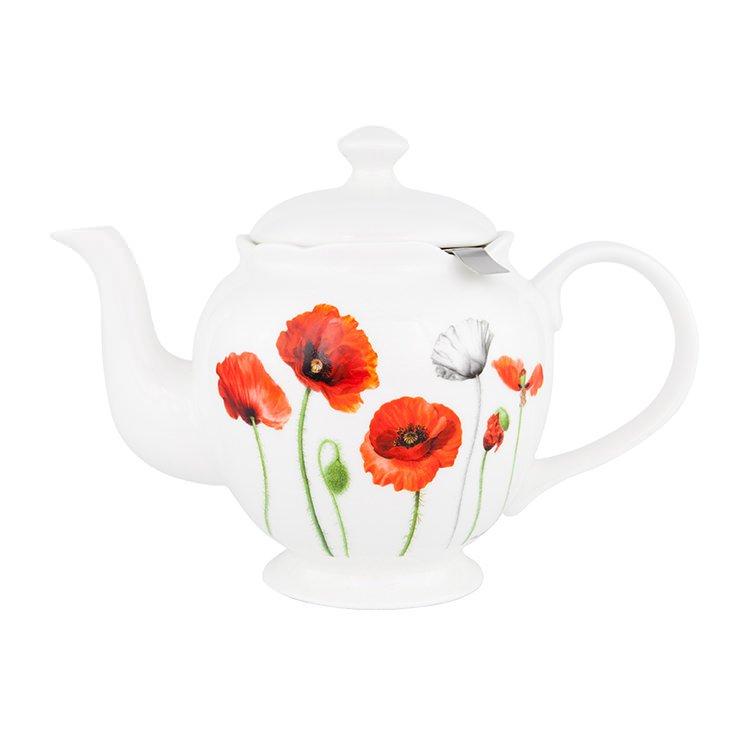 Ashdene Poppy Teapot w/ Infuser