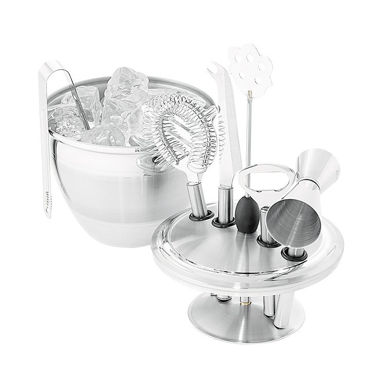 Avanti Art Deco Ice Bucket & Bar Tool Set