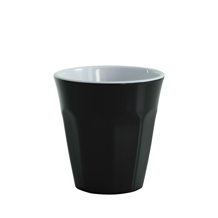 Avanti Cafe Melamine Two Tone Cup Black 275ml