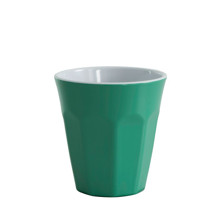 Avanti Cafe Melamine Two Tone Cup Forest Green 275ml
