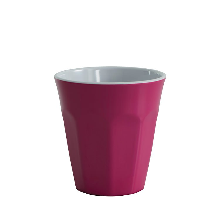 Avanti Cafe Melamine Two Tone Cup Fuschia Pink 275ml