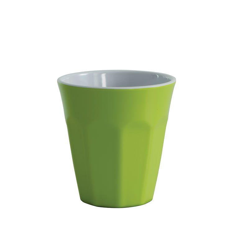 Avanti Cafe Melamine Two Tone Cup Lime Green 275ml