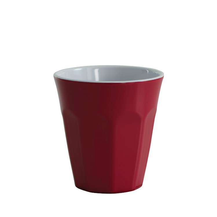 Avanti Cafe Melamine Two Tone Cup Red 275ml