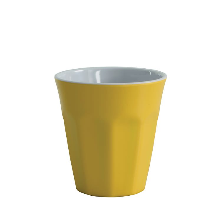 Avanti Cafe Melamine Two Tone Cup Yellow 275ml