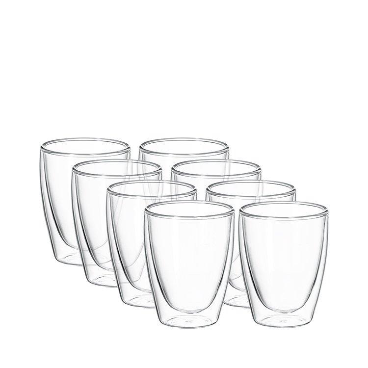 Avanti Cafe Twin Wall Glass 250ml Set of 8