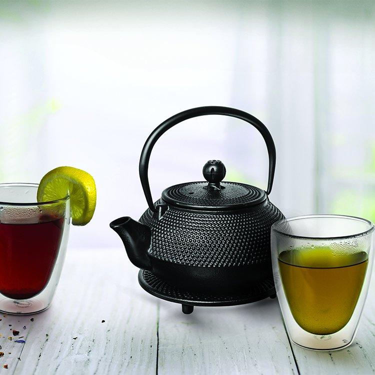 Avanti Hobnail Cast Iron Teapot Black 600ml