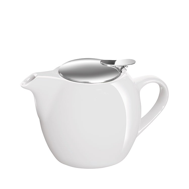 Avanti Camelia Ceramic Teapot 500ml Pure White