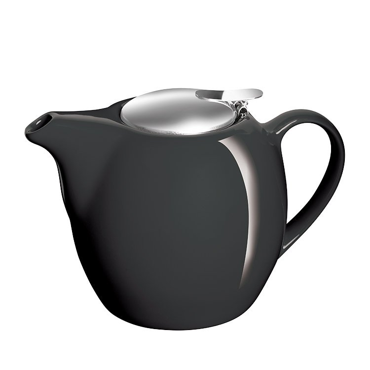Avanti Camelia Ceramic Teapot 750ml Pitch Black