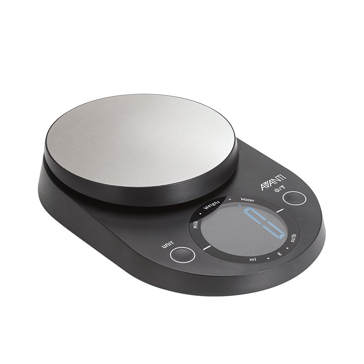 Avanti Digital Kitchen Scale Large Display 5kg Black