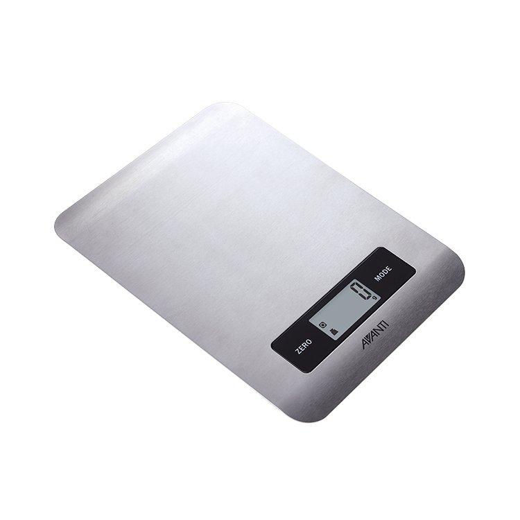 Avanti Digital Kitchen Scale Ultra Slim 5kg Stainless Steel