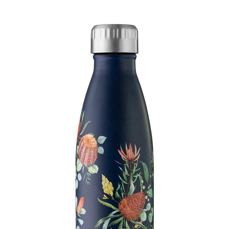Avanti Insulated Drink Bottle 750ml Australian Native Navy