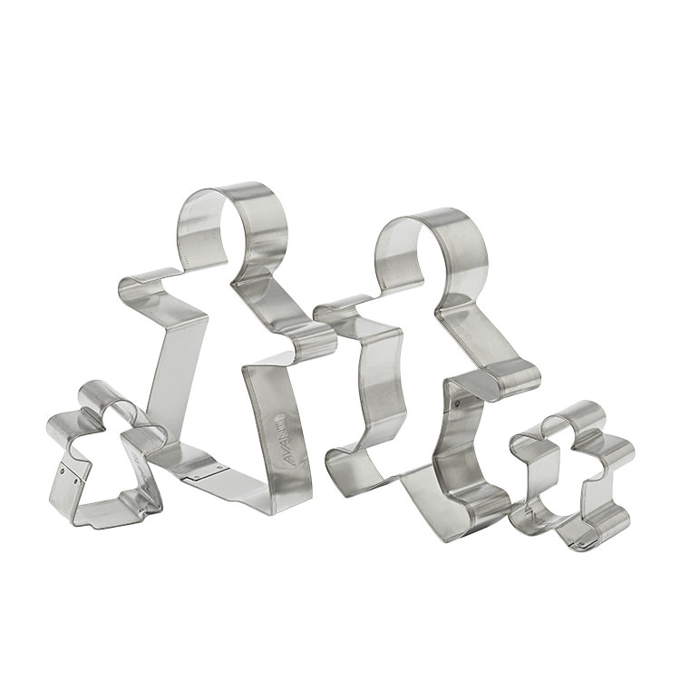 Avanti Gingerbread Family Cookie Cutters Set of 4