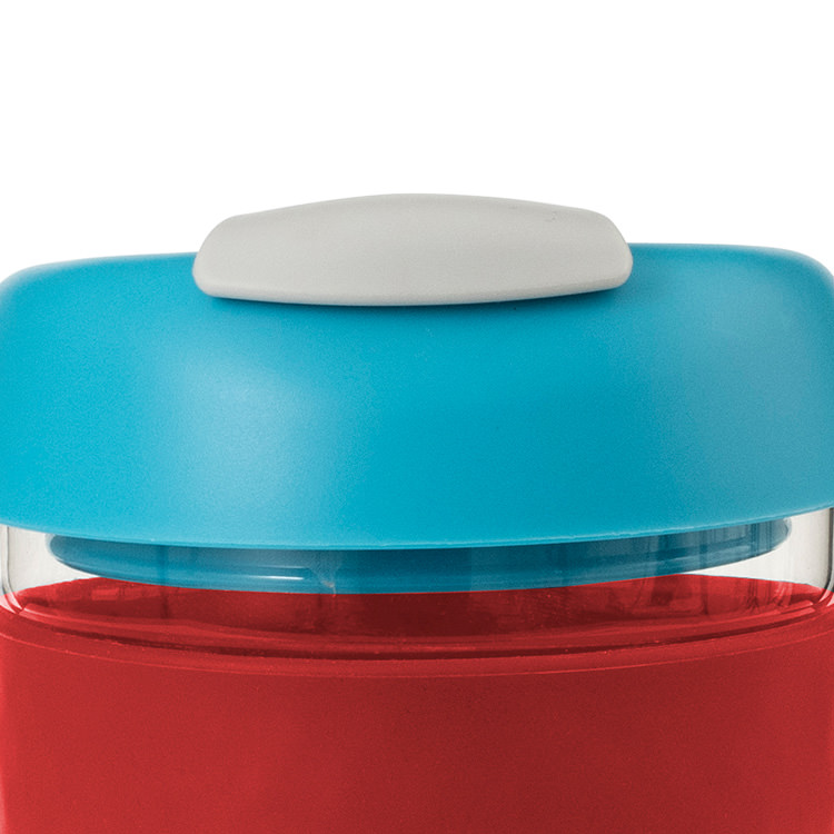 Avanti Go Cup Glass 236ml Red/Aqua/Grey image #2