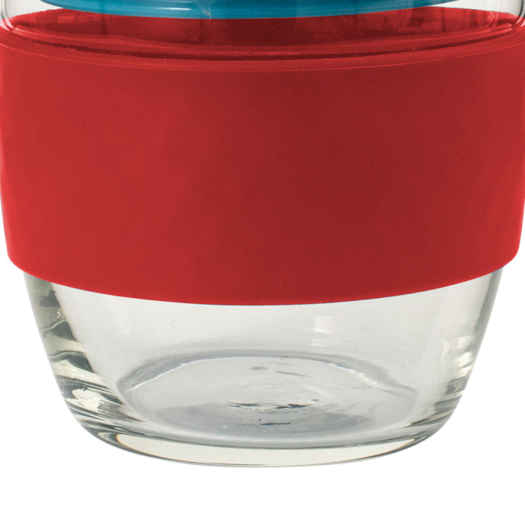 Avanti Go Cup Glass 236ml Red/Aqua/Grey image #3
