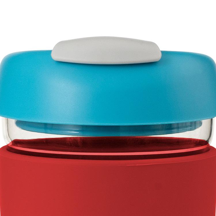 Avanti Go Cup Glass 355ml Red/Aqua/Grey image #2