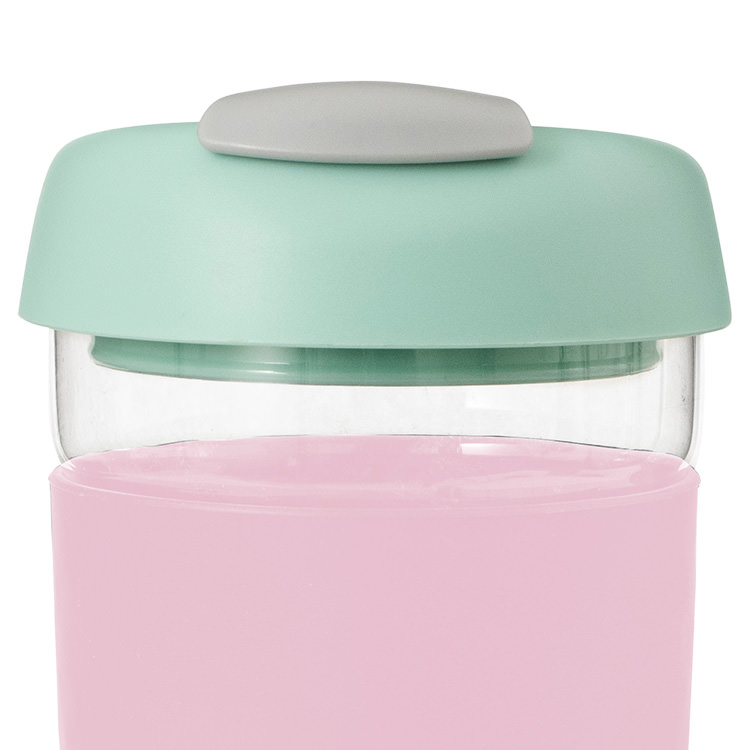 Avanti Go Cup Glass 473ml Pink/Mint/Grey