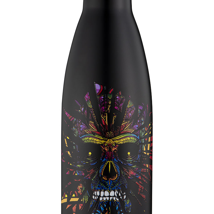 Avanti Insulated Drink Bottle 500ml Sugar Skull