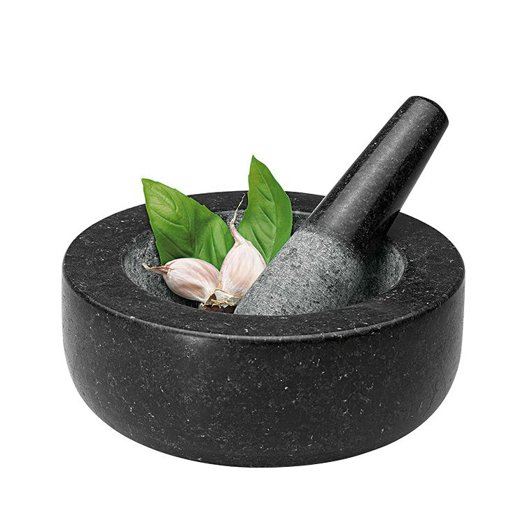 Avanti Low Profile Mortar and Pestle 20cm Black