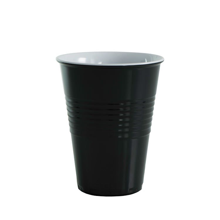 Avanti Miami Melamine Two Tone Cup Black 400ml